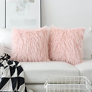 Amazon.com blush pink throw pillows