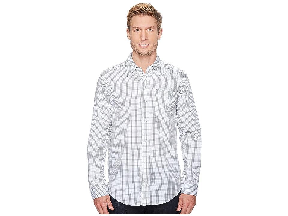 ExOfficio Salida Plaid Long Sleeve Shirt (Blue Lake) Men
