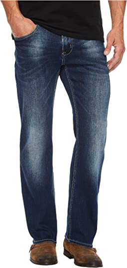 King-X Slim Bootcut Leg Jeans in Authentic and Worn