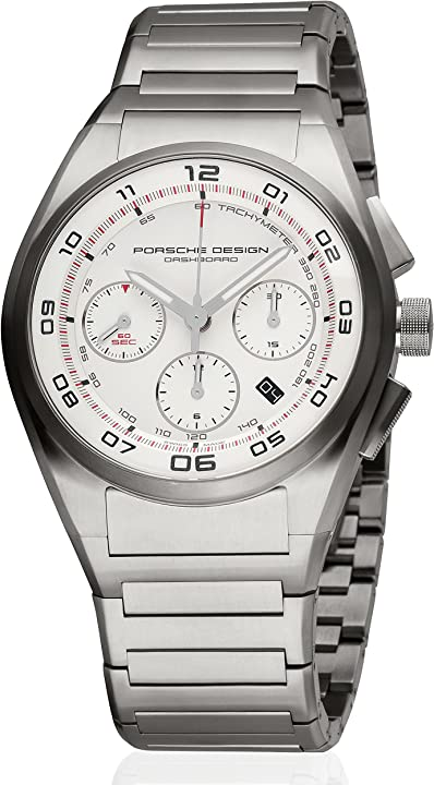 Orologio porsche design cruscotto cronografo automatico titanio mens strap watch calendario 6620.11.66.0268