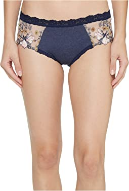 Hanky Panky - Embroidered Denim Hipster Bottoms