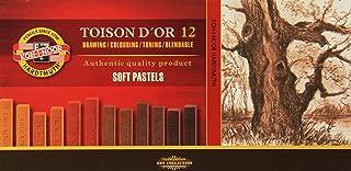 KOH-I-NOOR TOISON D'OR 8592012002BR Artist's Soft Pastels - Brown (Pack of 12)