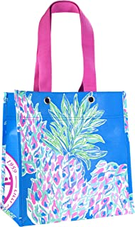 Lilly Pulitzer Market Shopper Bag, Reusable Grocery Tote with Comfortable Shoulder Straps, Swizzle Out