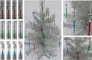 Star Wars 12 Piece MINI LIGHTSABER Christmas Tree Ornament Set - Shatterproof Plastic Design 3