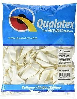 Qualatex風船 9インチ(23cm) 丸型ホワイト 徳用100個入