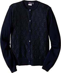 Lace Front Cardigan (Big Kids)