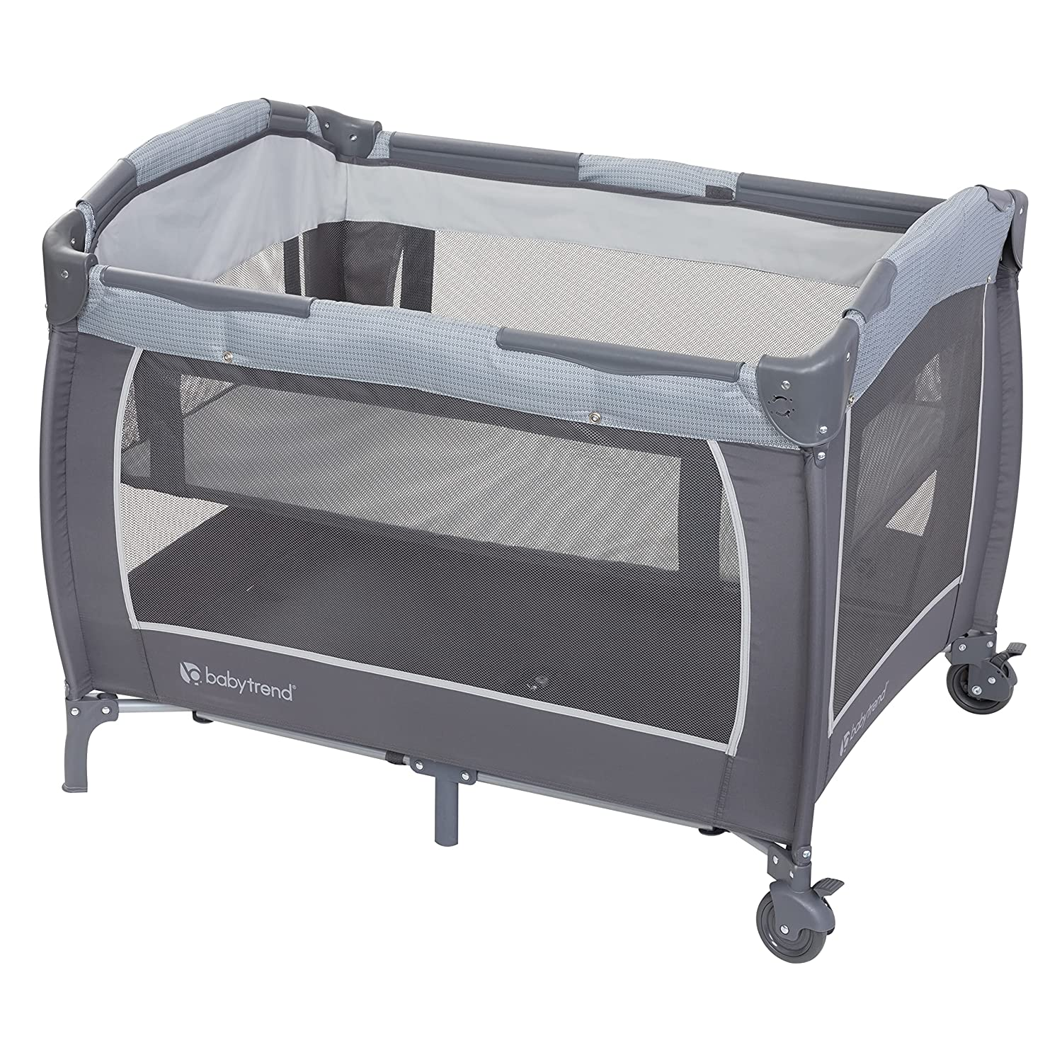 Baby Trend Lil' Snooze Deluxe III for Twins,Cozy Grey
