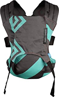 We Made Me Venture+ 2-in-1 Toddler Carrier, Mint Green Black Zigzag