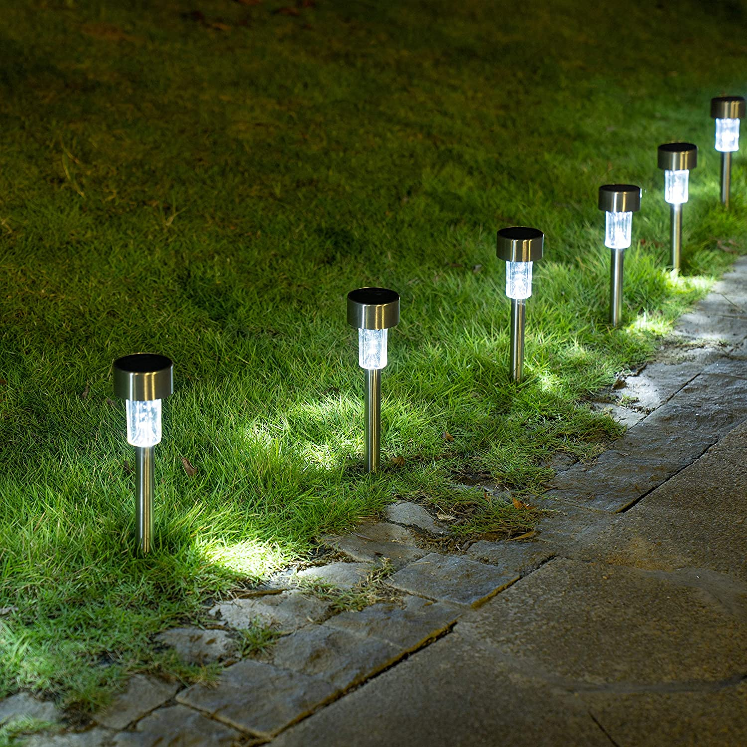 Sowsun Rapid rise SEAL limited product Solar Pathway Lights Gar Outdoor Landscape Powered