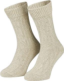 Piarini, Par de calcetines para traje tradicional - Punto trenzado - Estilo rústico bávaro - Jaspeado - Hasta la talla 50
