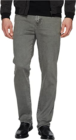 Relaxed Straight Stretch Denim Jeans in Gunmetal