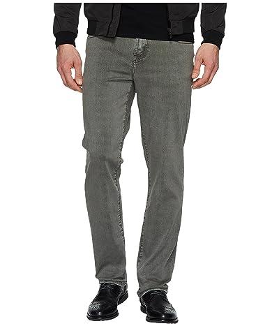 Liverpool Relaxed Straight Stretch Denim Jeans in Gunmetal (Gunmetal) Men
