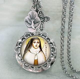St. Colette Locket Necklace, Patron Saint, Confirmation Gift, Catholic Faith Inspired Jewelry