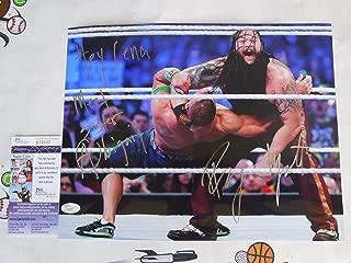 Bray Wyatt signed 11x14 photo Hey Cena Meet Sister Abigail JSA COA WWE John