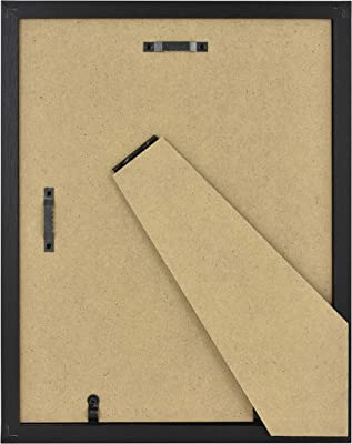 MCS Industries MCS 8x10 Inch Gallery 2-Pack, Black Woodgrain Essential Frame, 8x10