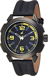 Fastrack Men's 3130NL01 Casual Black Leather Strap Watch