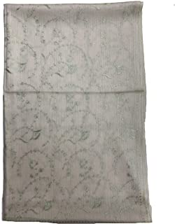 Cashmere Wool Scarf With Sozni Jali Dar Embroidery For Women, Elegant Accessory For Women