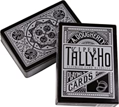 Ellusionist Tally-Ho Viper Fan Back Playing Cards - Black with Silver Metallic Finish