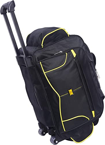 57 litres Polyester Travel Duffle Soft Sided Duffel with Wheels Black 57 cm Set 0f 1 pcs Bags