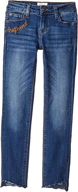 High-Low Ankle Crop Jeans in Slub Blue (Big Kids)