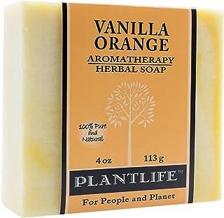 Plantlife Handmade Soap Bar with Natural Ingredients - for Men, Women, Children - Vanilla Orange - 4 oz
