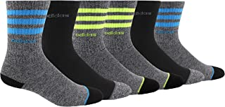 adidas Youth 3-Stripe Crew Socks (6 Pairs)