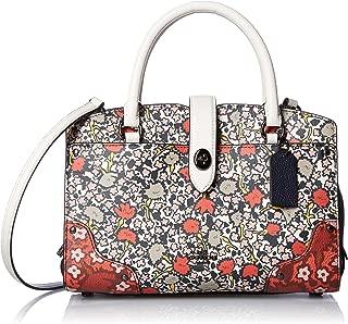 Womens Multi Floral Mercer 24 Satchel DK/Chalk Yankee Floral Handbag