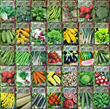 WOHOUS Vegetable Seeds 12,285 Non GMO Heirloom Seeds 20 Variety Pack Vegetable Seeds Survival Garden Organic Seeds Made in USA