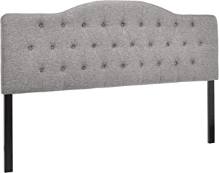 First Hill Upholstered Tufted Headboard, King, Grey