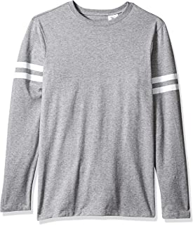 SOFFE Men's Striped Sleeve Tee with Long Sleeves Shirt