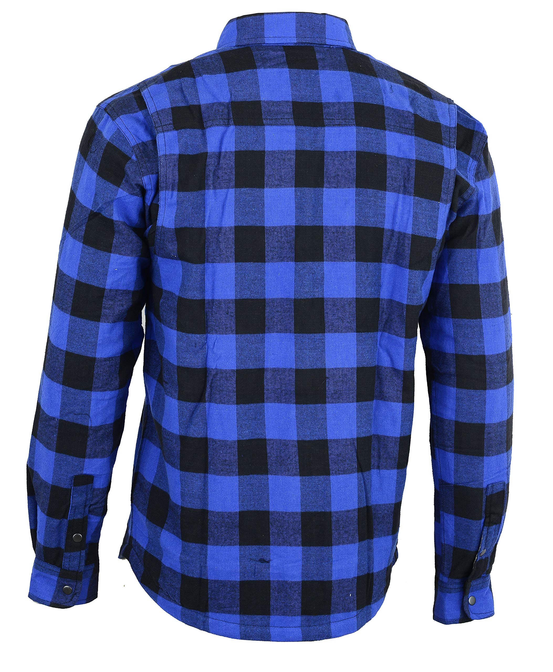 Bikers Gear Australia - Camisa protectora de franela para motocicleta con forro de aramida multicolor Azul y negro. medium: Amazon.es: Coche y moto