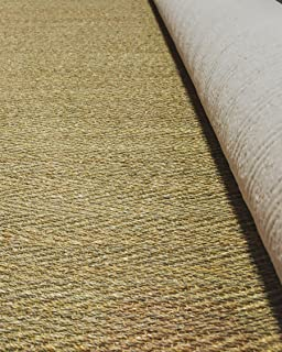 NaturalAreaRugs Wall to Wall Beach Seagrass Carpet - 100 Percent Natural Seagrass with Cotton Backing - 13'ft Wide Custom Lengths Sold by The Foot - up to aprox. 98'ft
