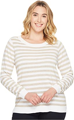 MICHAEL Michael Kors - Plus Size Lurex Stripe Sweater