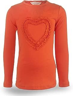 Girls' Heart-Shaped Long Sleeve T-Shirt