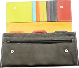 Leather Travel Wallet Document Holder Passport Tickets Travellers Cheques Money