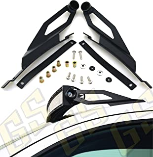 GS Power's 50 inch Curved LED Light Bar Mount Brackets for Mounting Off-Road Auxiliary Work Lights at Roof Cab Upper Windshield. Compatible with 2007-2019 Toyota Tundra