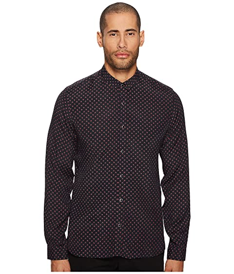 A The Kooples Collar Printed Classic Shirt with qwO4wI