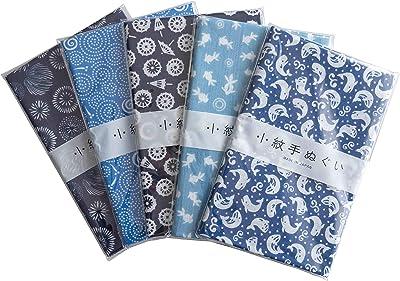 小紋 手ぬぐい 和風 日本製 Japan style てぬぐい 綿100% 約33×90cm (A.5枚セット)