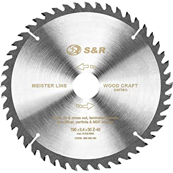 * HM Cercle Lame de scie scie circulaire marchandise 190 x 30 mm 40 Dent De Scie Scie Feuille *