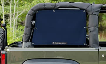 ALIEN SUNSHADE Jeep Wrangler Mesh Cage Side Shades with 10 Year Warranty Protect Your Cargo Area and Rear Passengers From Harmful UV Rays for Your 2-Door JK (2007-2017) (Navy)