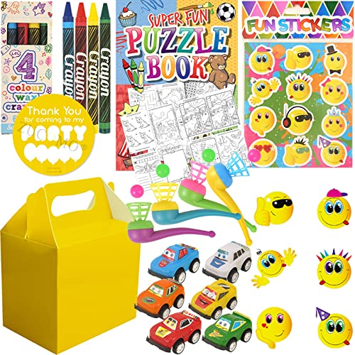 Pre Filled Boys Party Bags Box For Children Luxury Birthday Wedding Gifts Yellow