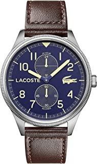 Lacoste Men'S Blue Dial Brown Leather Watch - 2011040