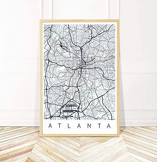 Atlanta Map Art Print - Map of Atlanta Georgia - Series II