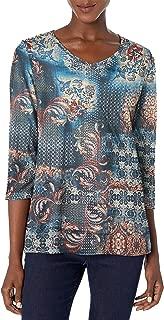 Gloria Vanderbilt Women's Teegan 3/4 Sleeve Top