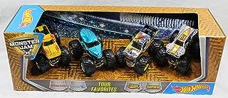 Hot Wheels Monster Jam 2017 - Tour Favorites 2 - El Toro Loco, N.E.A. Police, Team Hot Wheels Firestorm, Max-D