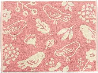 林(Hayashi) 浴室足ふきマット ピンク 約45×60cm パレット バード MJ805000