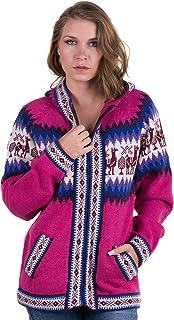Avec Capuche et Fermeture /à Glissi/ère Gilet 100/% laine alpaga Avec Andean Design et Llamitas Gamboa Disponible en Diff/érentes Couleurs Tr/ès chaud et doux
