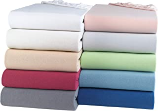 BaSaTex Drap-housse en jersey bio 100 % coton certifié GOTS | Drap-housse en toutes tailles | 90 x 200 à 100 x 200 cm | Bo...