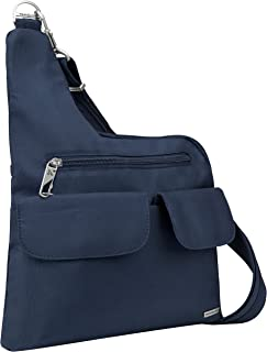 Travelon Anti-Theft Cross-Body Bag, Two Pocket, Midnight (Blue) - 42373 360