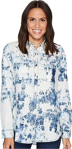 Bowie Shirt in Indigo Tie Bleach